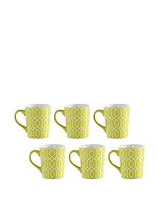 Shiraleah Set of 6 Lime SoHo 16-Oz. Mugs
