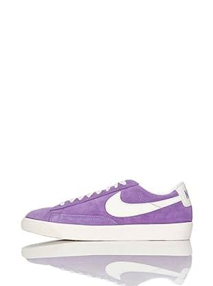 Nike Zapatillas Wmns Blazer Low Suede (Vntg) (Violeta/Blanco)