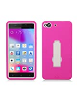 Aimo Wireless Layer Case, 3 in 1 with Stand for BLU Life Pure L240 - Retail Packaging - Hot Pink/White
