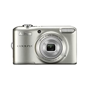 Nikon Coolpix L28 20.1MP Point-and-Shoot Digital Camera (Silver) with 4GB Card, Camera Pouch, Rechargeable Battery and Charger