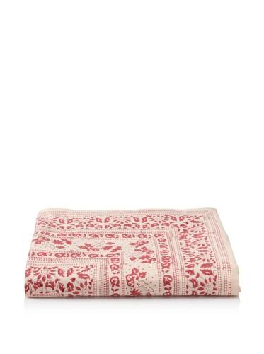 Kerry Cassill Flat Sheet (Cranberry Floral)