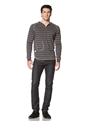 Marshall Artist Men's Y-Neck Henley (Charcoal)