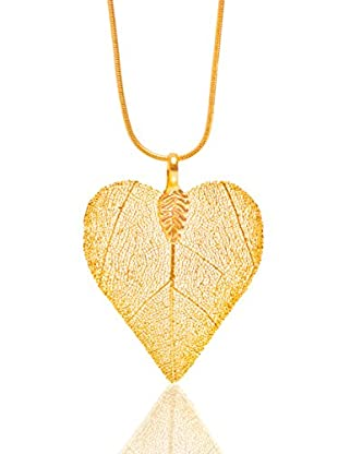 ANA Natural Leaves Anhänger Herzblatt vergoldet