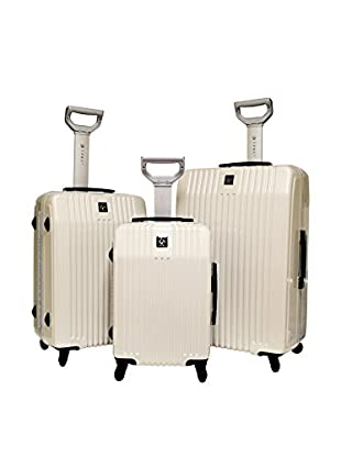 Travelers Polo And Raquet Club 3Pc Hardside Luggage Set W/ 360˚ 4-Wheel System