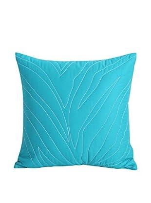 kensie Kara Decorative Pillow, Turquoise/White