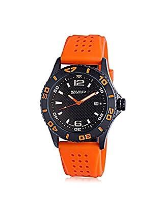 Haurex Men's 3N500UON Factor Orange/Black Rubber Watch