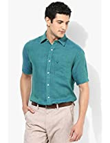 Green Linen Casual Shirt Allen Solly