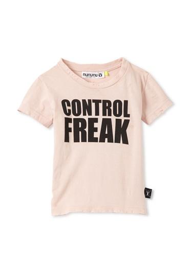 NUNUNU Kid's Control Freak Tee (Pink)