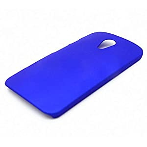 WOW Imagine Matte Hard Case Back Cover For Motorola Moto G 2nd Gen (Uber Blue)