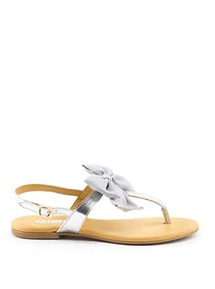 Misu Sandale Schleife (Silber/Grau)