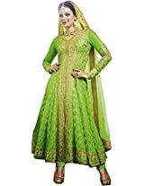 Pairahan Embroidered Unstitched Anarkali Suit