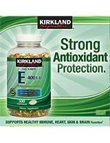 Kirkland Signature Vitamin E 400 IU - 500 Softgels (Two Pack)- Total 1000 Sof