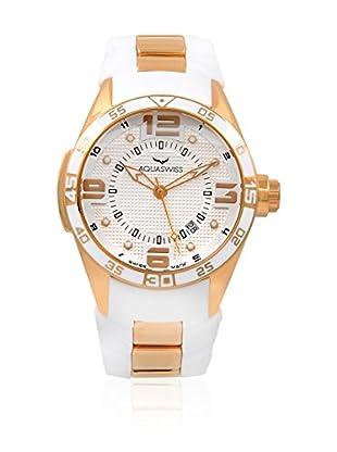 Aquaswiss Uhr mit Schweizer Quarzuhrwerk Trax 3H weiß 43 mm