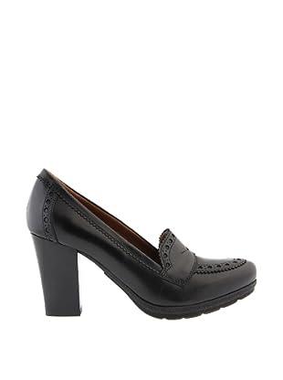 Paco Herrero Zapatos Mocasin Perforaciones (Negro)