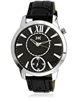 KILLER Black Dial Analogue Watch for Men (KLW237B_New1)