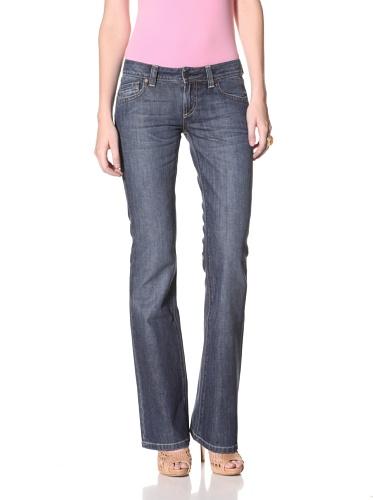 DL 1961 Premium Denim Women's Andi Bootcut Jeans (Dark Blue)