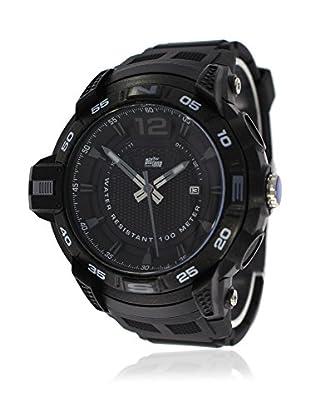 Pit Lane Uhr mit Miyota Uhrwerk Pl-2006-1 schwarz 50 mm