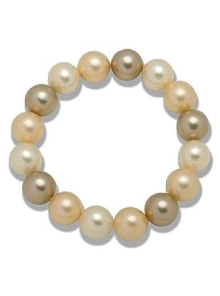 Perldor Armband Muschelkernperlen champagner/goldbraun 60650075