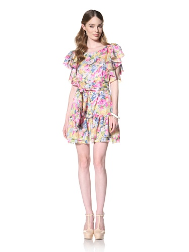 COLLETTE BY COLLETTE DINNIGAN Women's Ruffle Sleeve Dress (Floral Haze)