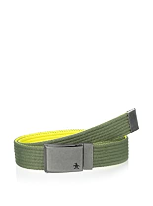 Original Penguin Men's Reversible Solid Web Belt (Loden Green)