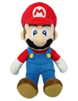 "Sanei Super Mario All Star Collection 9.5"" Mario Plush, Small"