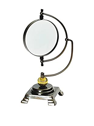 Go Home Author's Magnifying Glass on Stand, Silver/Bronze/Gold