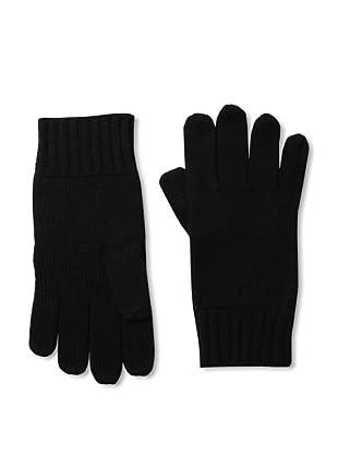Cashmere Addiction Men's Solid Cashmere Gloves, Black