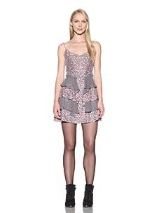 Charlotte Ronson Women's Combo Ruffle Dress (Spice)