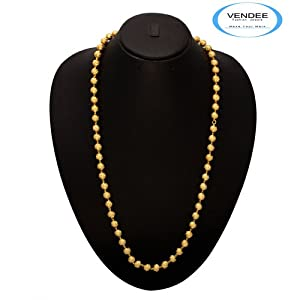 Vendee Stunning 24 K Gold plated Mala: A perfect accessory for all the occasions.