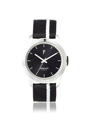 Johan Eric Men's JE1400-04-007 Naestved Black/Silver Striped Canvas Watch