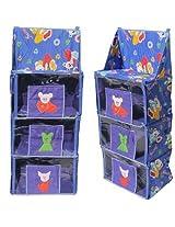 Multipurpose kids hanging almirah with 4 shelves