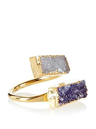 Charlene K Champagne/Blue Double Druzy Ring