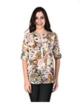 Latin Quarters Women's Brown Regular Fit Top X-Small