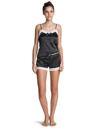 Esprit Bodywear Damen Schlafanzugshose X0346/Luxury Satin (Schwarz (4))