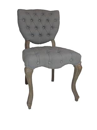 Moti Tufted Easy Chair, Grey