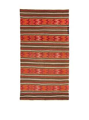 Design Community By Loomier Teppich Kilim Caucasico rot/mehrfarbig 162 x 298 cm