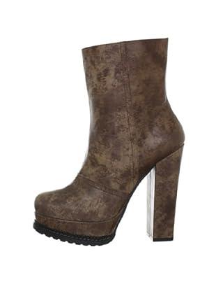 Buffalo London 40802-223 SANDY SPORT 138182 - Botines fashion de cuero para mujer (Beige)
