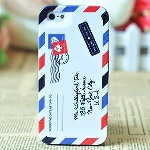 Kate Spade ケイト・スペード iPhone5 ハード ケース Airmail レター エアーメール 並行輸入品 (液晶保護フィルム)