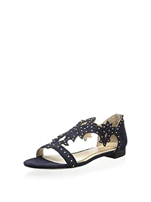 Pour La Victoire Women's Katia Studded Swirl Sandal (Navy)