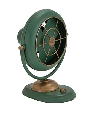 Metal Fan Décor, Green
