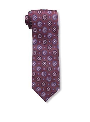 Bruno Piattelli Men's Medallion Silk Tie, Red Navy