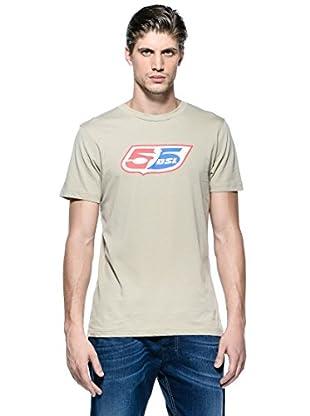 55Dsl Camiseta Logoclassic (Beige)