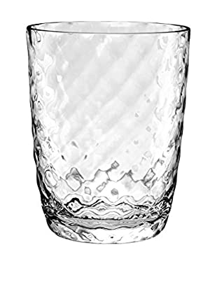 Textured Acrylic Double Old Fashioned Glass, Clear