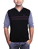 Cotton Material Classic Black Colored Half Sleeves Winter Wear Sweater - Large Size & Model Number  83077705 by Puma