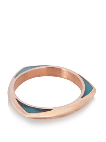 Katie Rowland Lilith Enamel Tri Stacker Ring (Royal Blue Candy)