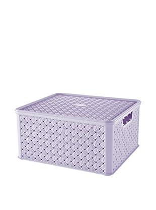 Tontarelli Caja Contenedor x 4 Arianna Grande 13L Lila