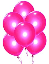 GrandShop 50263 Balloons Metallic HD Finish Magenta Color (Pack of 50)