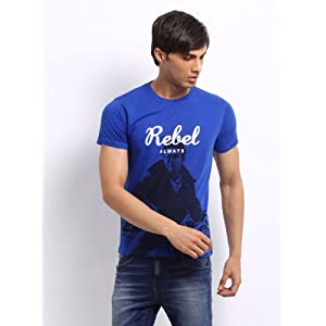 Pepe Jeans Men Blue Glen Printed T-shirt
