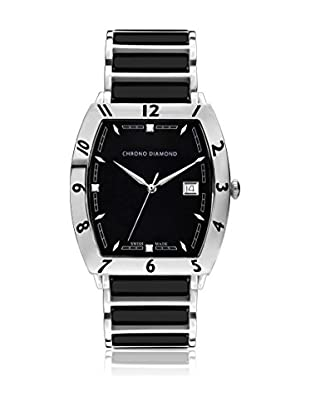 Chrono Diamond Reloj de cuarzo Man Negro