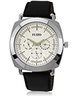 Fl-120-Ips-Sl01 Black/Silver Analog Watch Flud